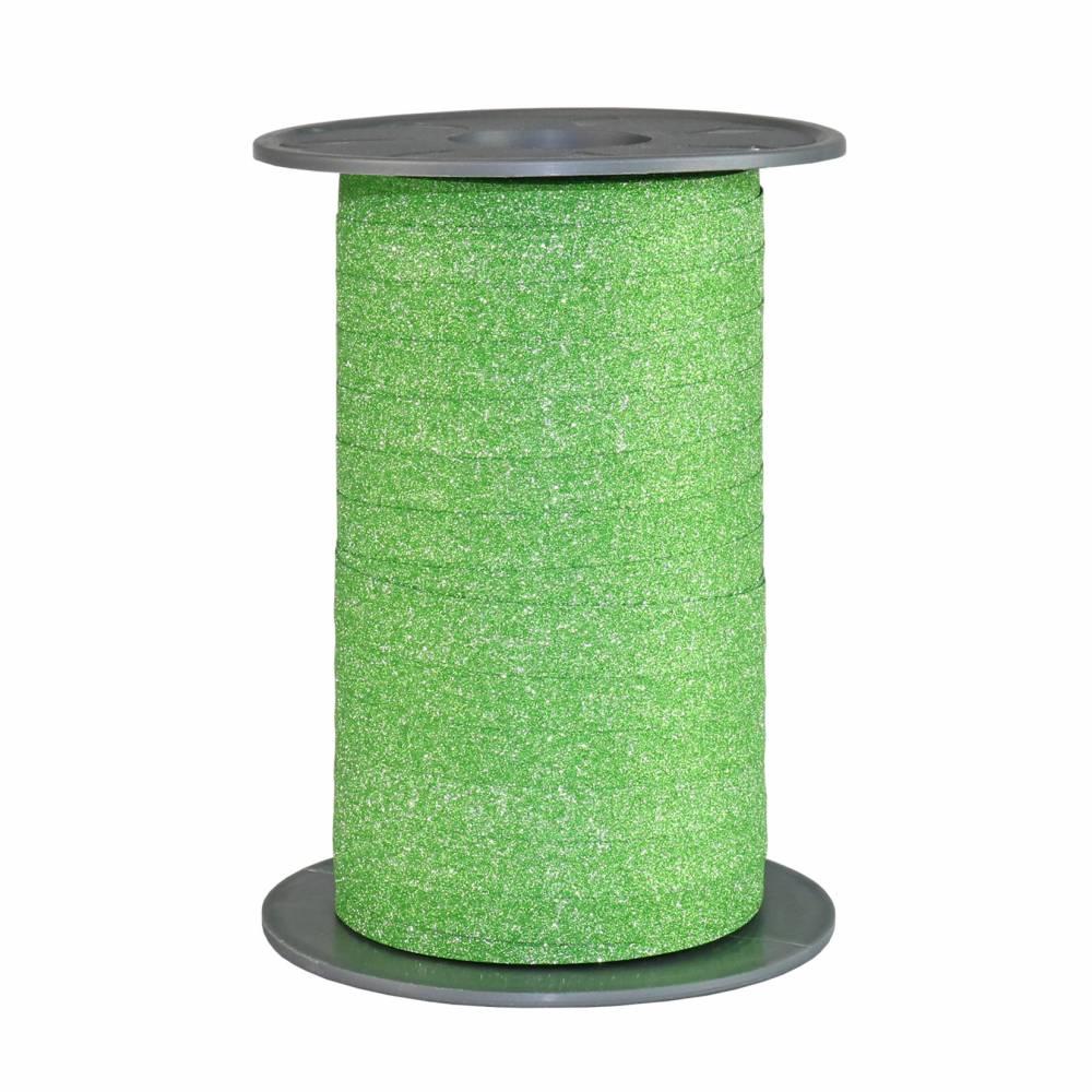 Bolduc pailleté 10 mm x 100 m vert pomme