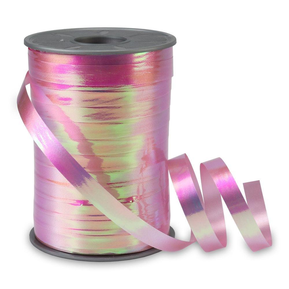 Bolduc irisée 10 mm x 200 m rose clair