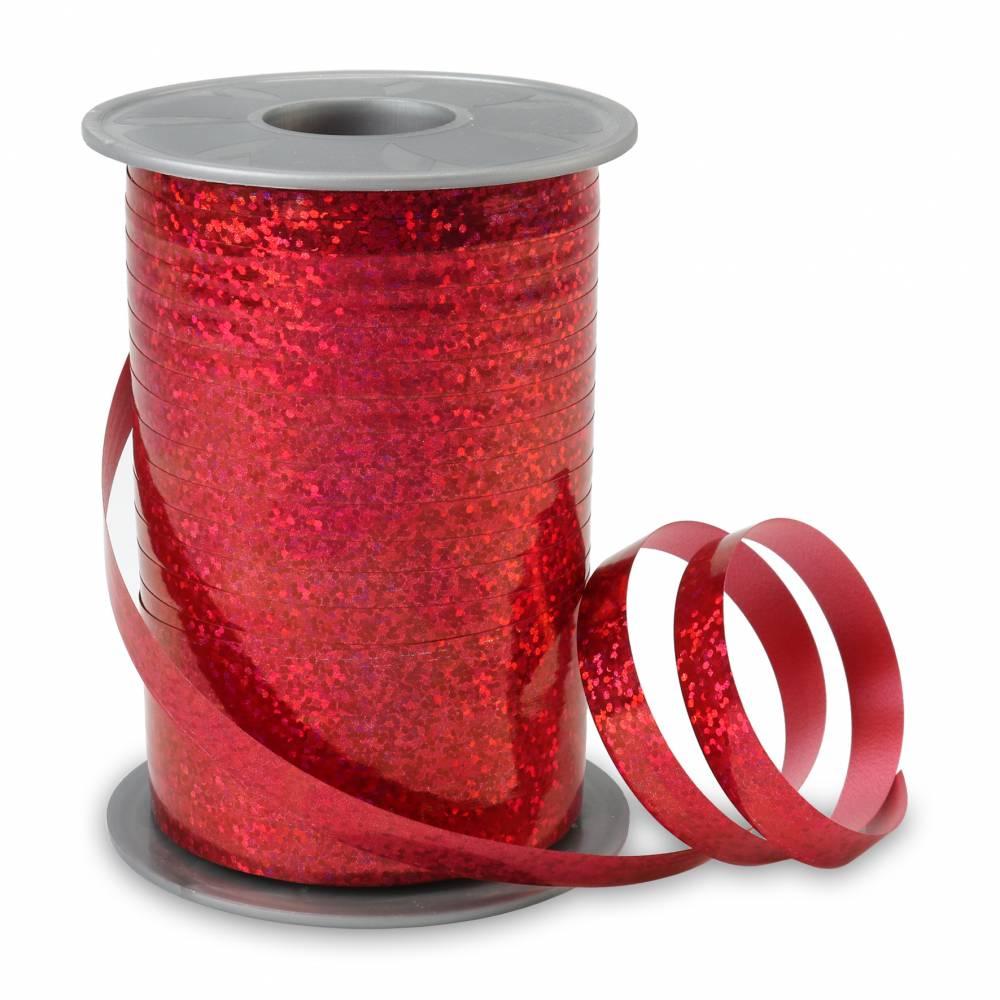 Bolduc holographique 10 mm x 200 m rouge