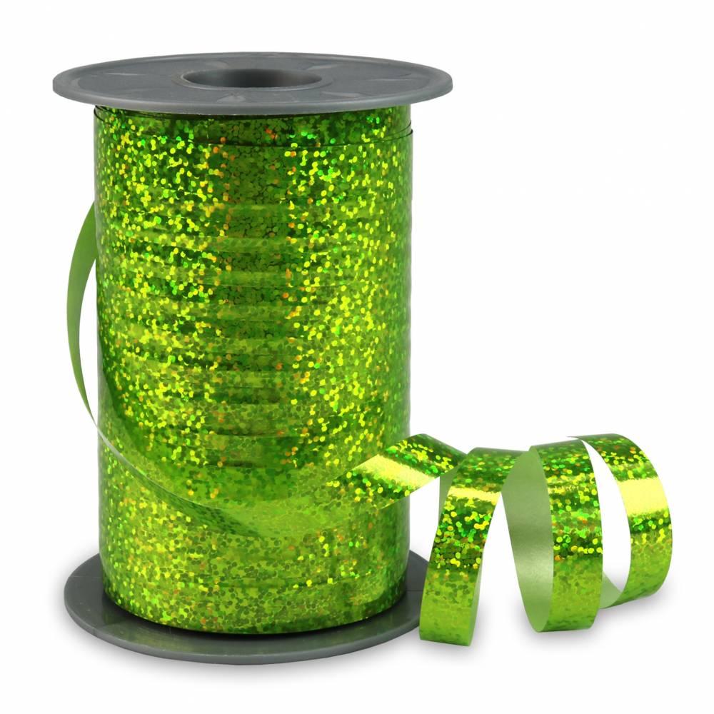 Bolduc holographique 10 mm x 200 m vert pomme