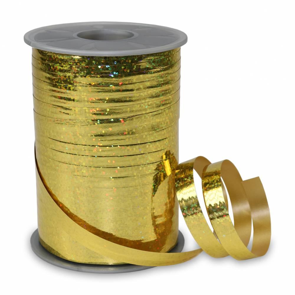 Bolduc holographique 10 mm x 200 m or