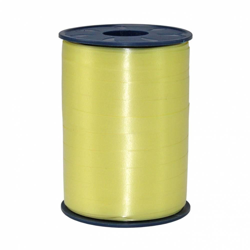 Bolduc standard satiné 10 mm x 250 m jaune clair