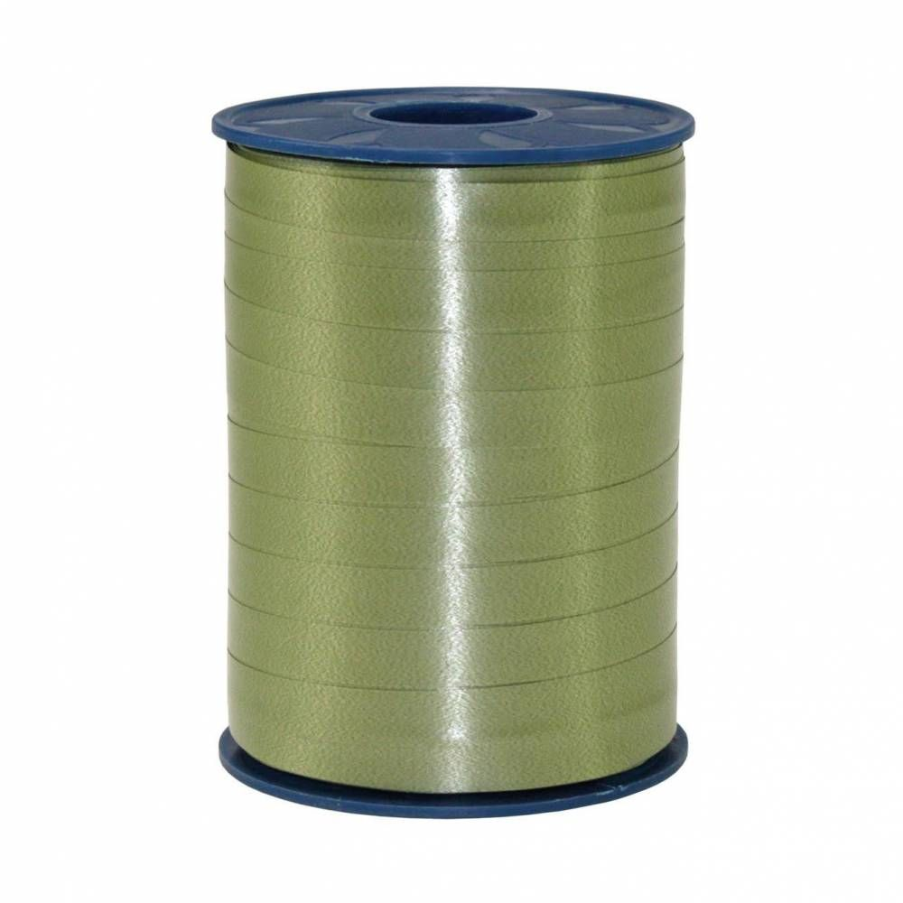 Bolduc standard satiné 10 mm x 250 m vert olive