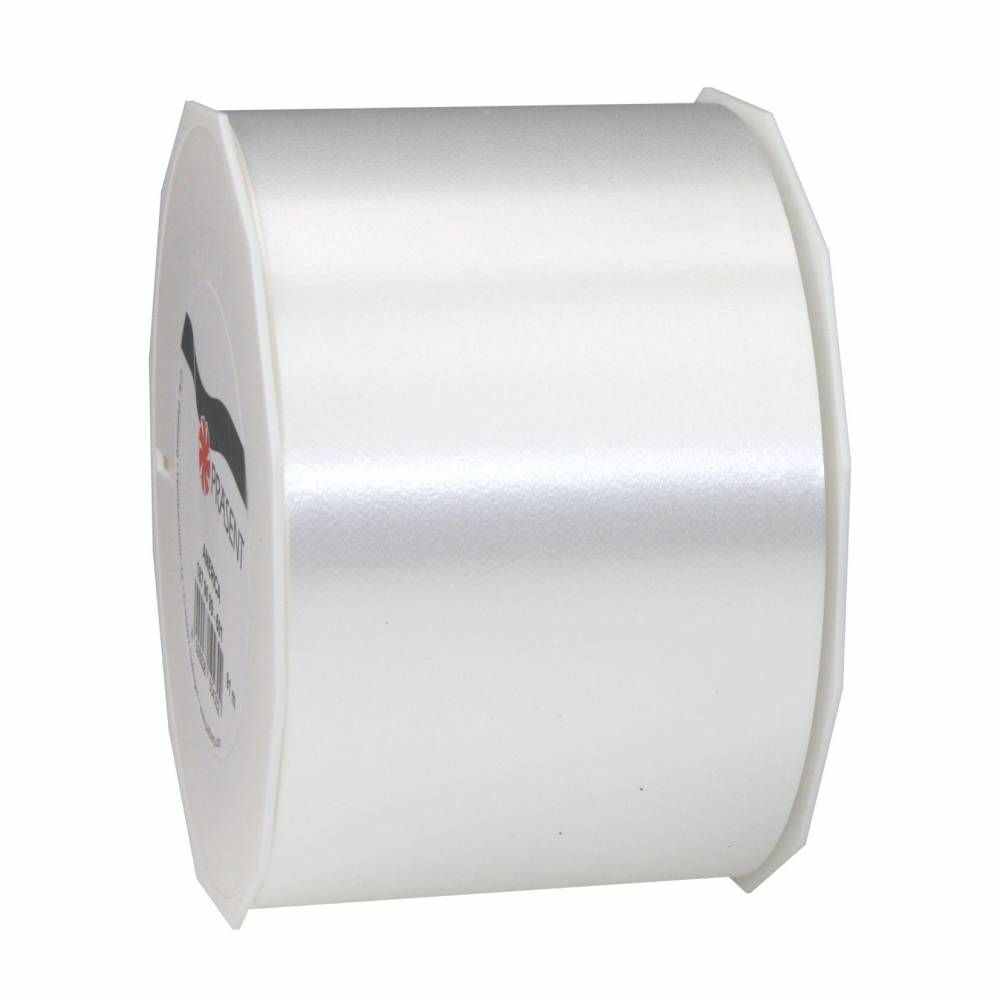 Ruban polypropylène satiné 90 mm x 91 m blanc