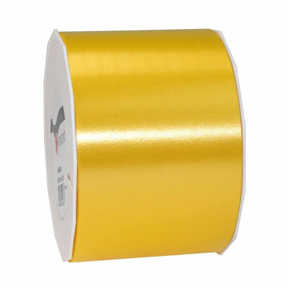 Ruban polypropylène satiné 90 mm x 91 m jaune