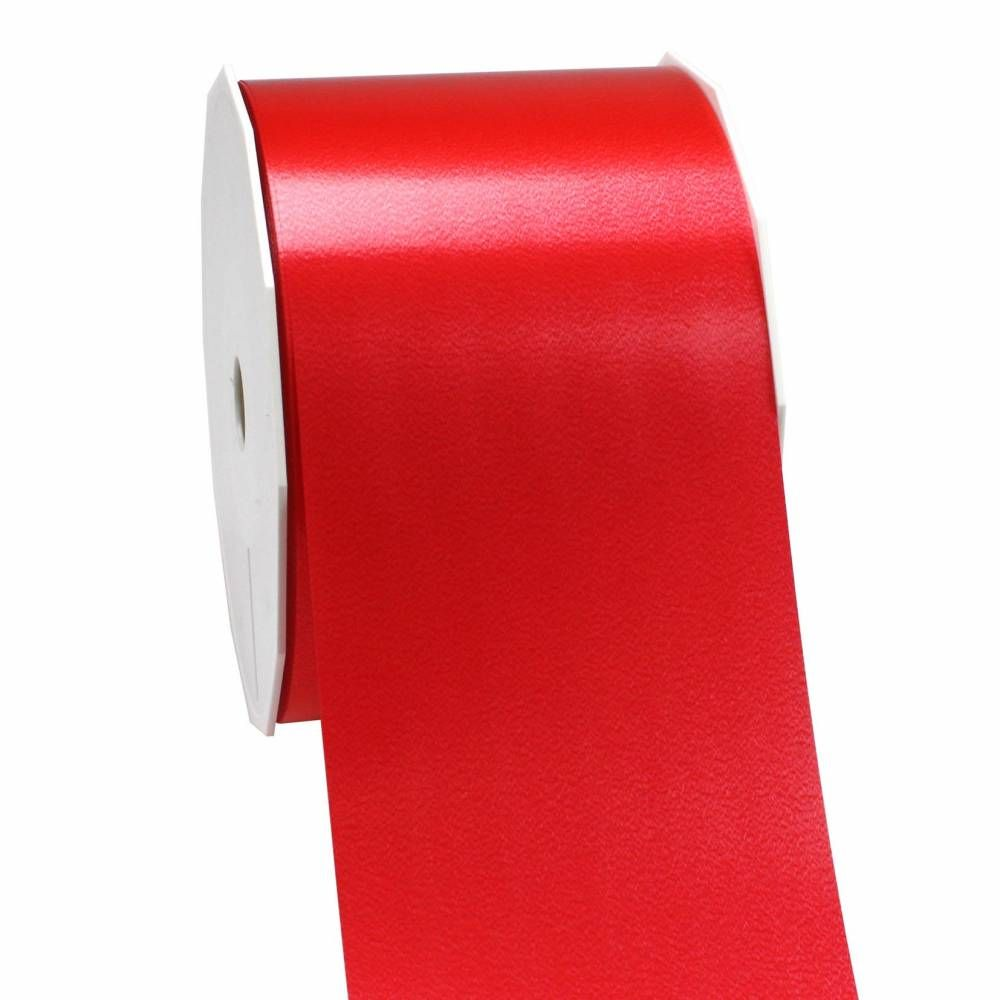 Ruban polypropylène satiné 90 mm x 91 m rouge