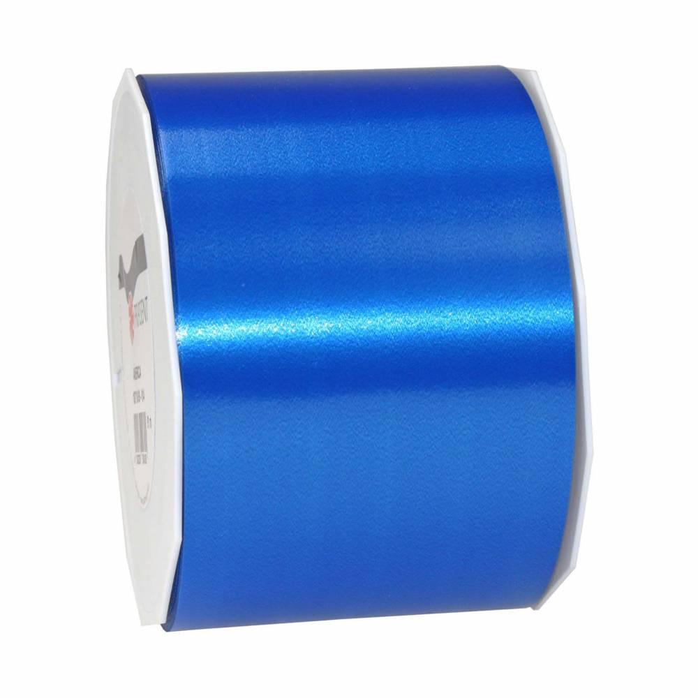 Ruban polypropylène satiné 90 mm x 91 m bleu