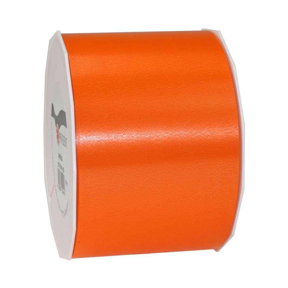 Ruban polypropylène satiné 90 mm x 91 m orange