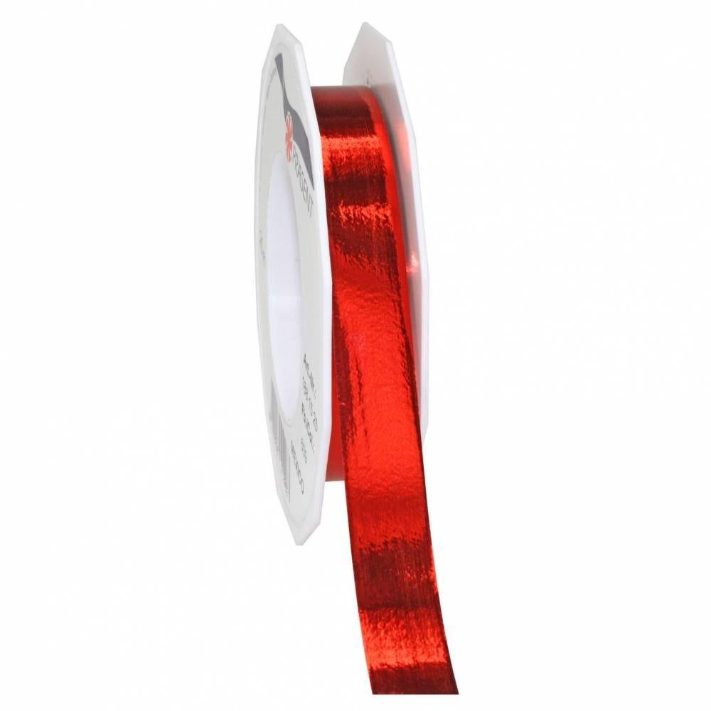 Ruban polypropylène brillant 15 mm x 25 m rouge