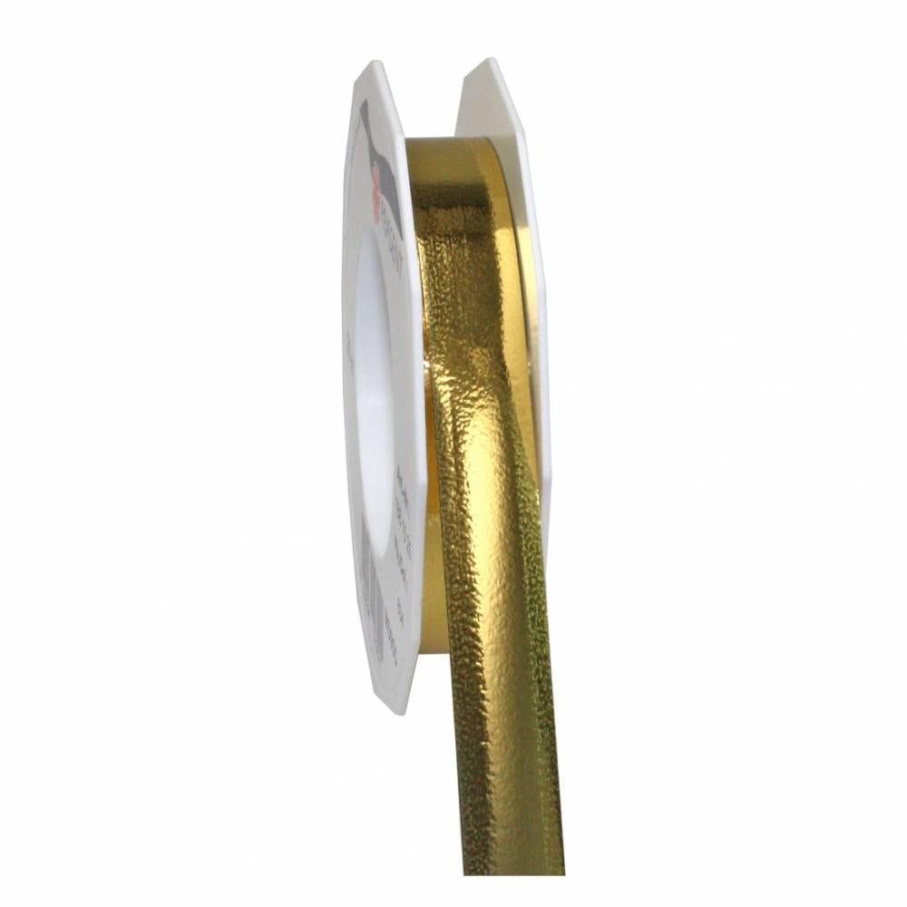 Ruban polypropylène brillant 15 mm x 25 m or