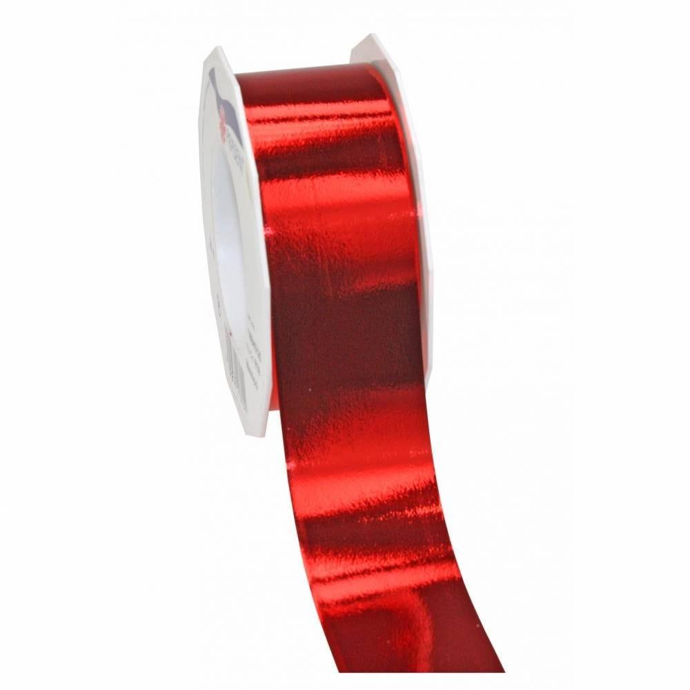 Ruban polypropylène brillant 40 mm x 25 m rouge