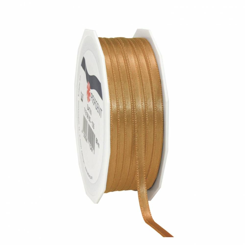 Bolduc polyester satiné 6 mm x 50 m or