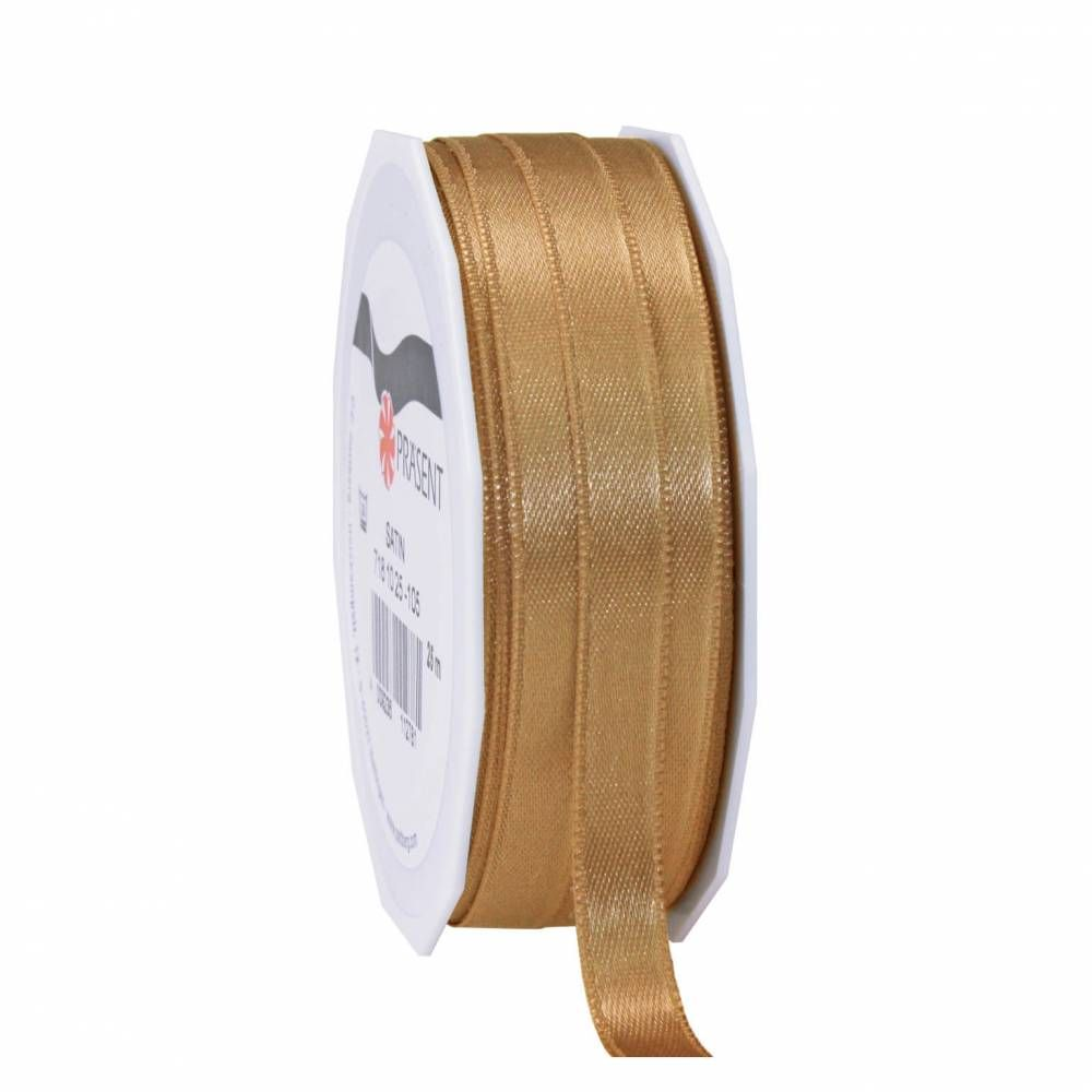 Bolduc polyester satiné 10 mm x 25 m or