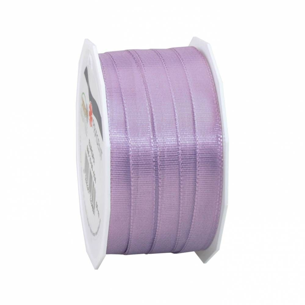 Bolduc avec bords satinés 10 mm x 50 m lilas (photo)