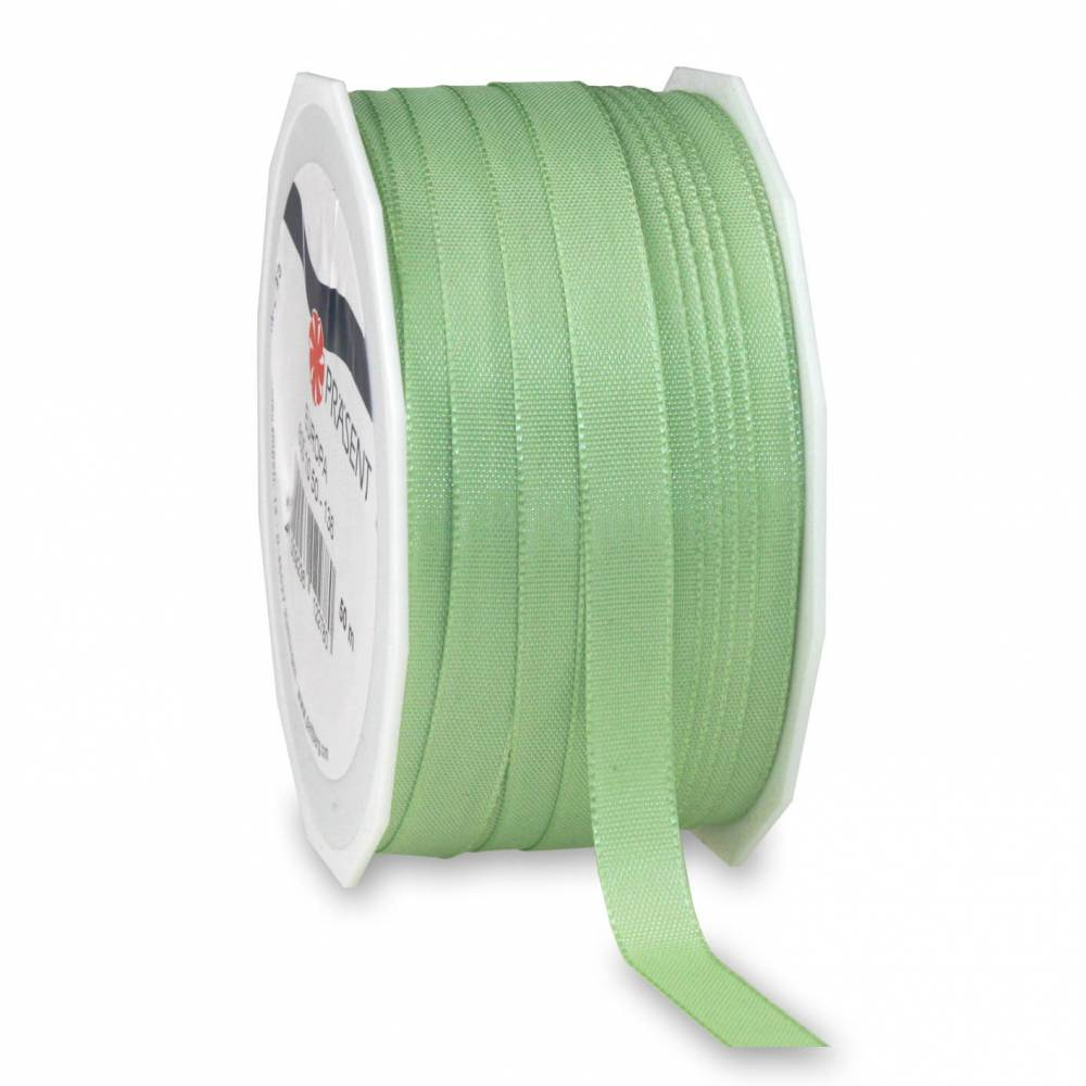 Bolduc avec bords satinés 10 mm x 50 m vert pastel (photo)