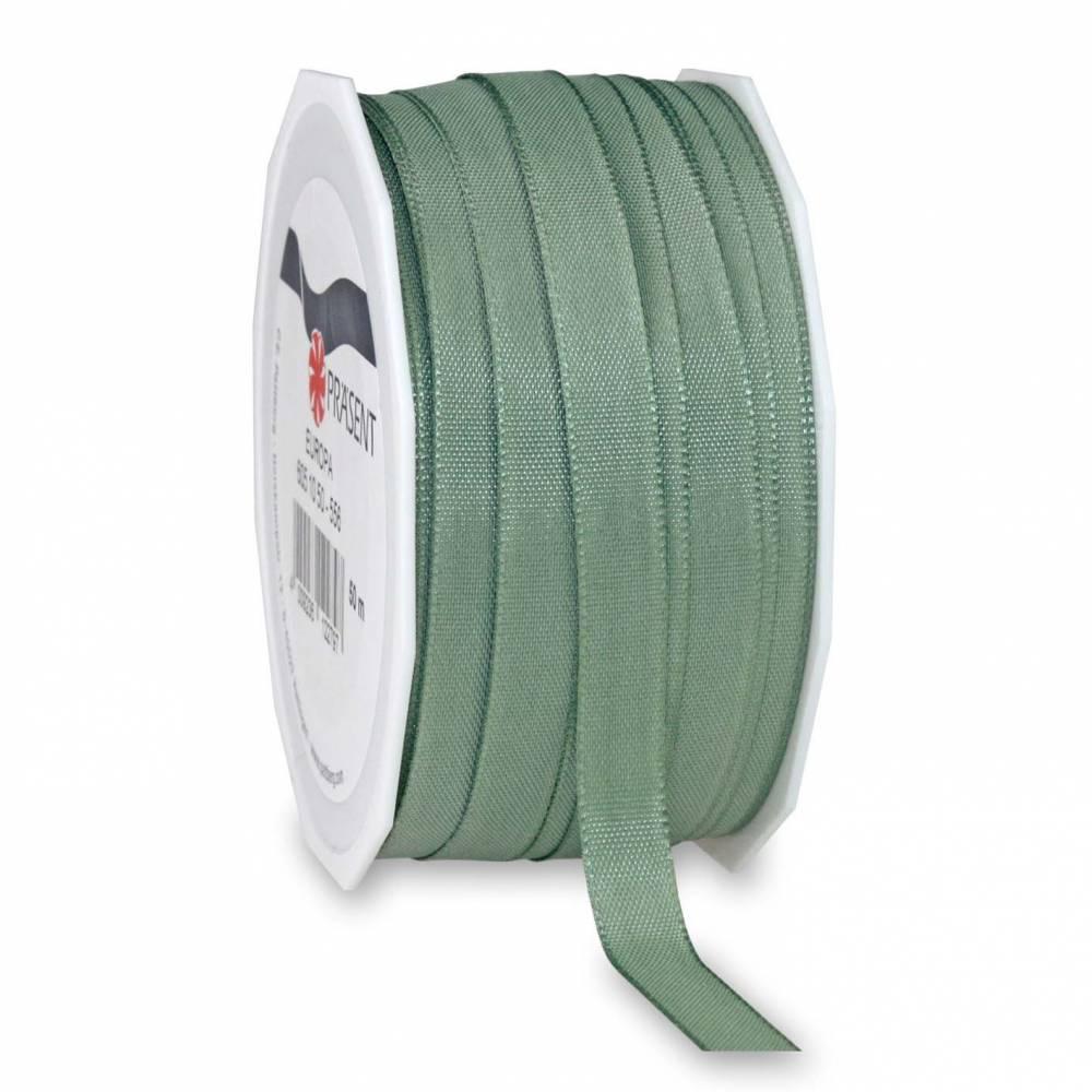 Bolduc avec bords satinés 10 mm x 50 m vert tendance (photo)