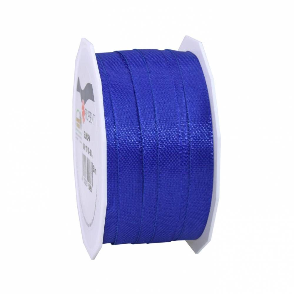 Bolduc avec bords satinés 10 mm x 50 m bleu royal (photo)