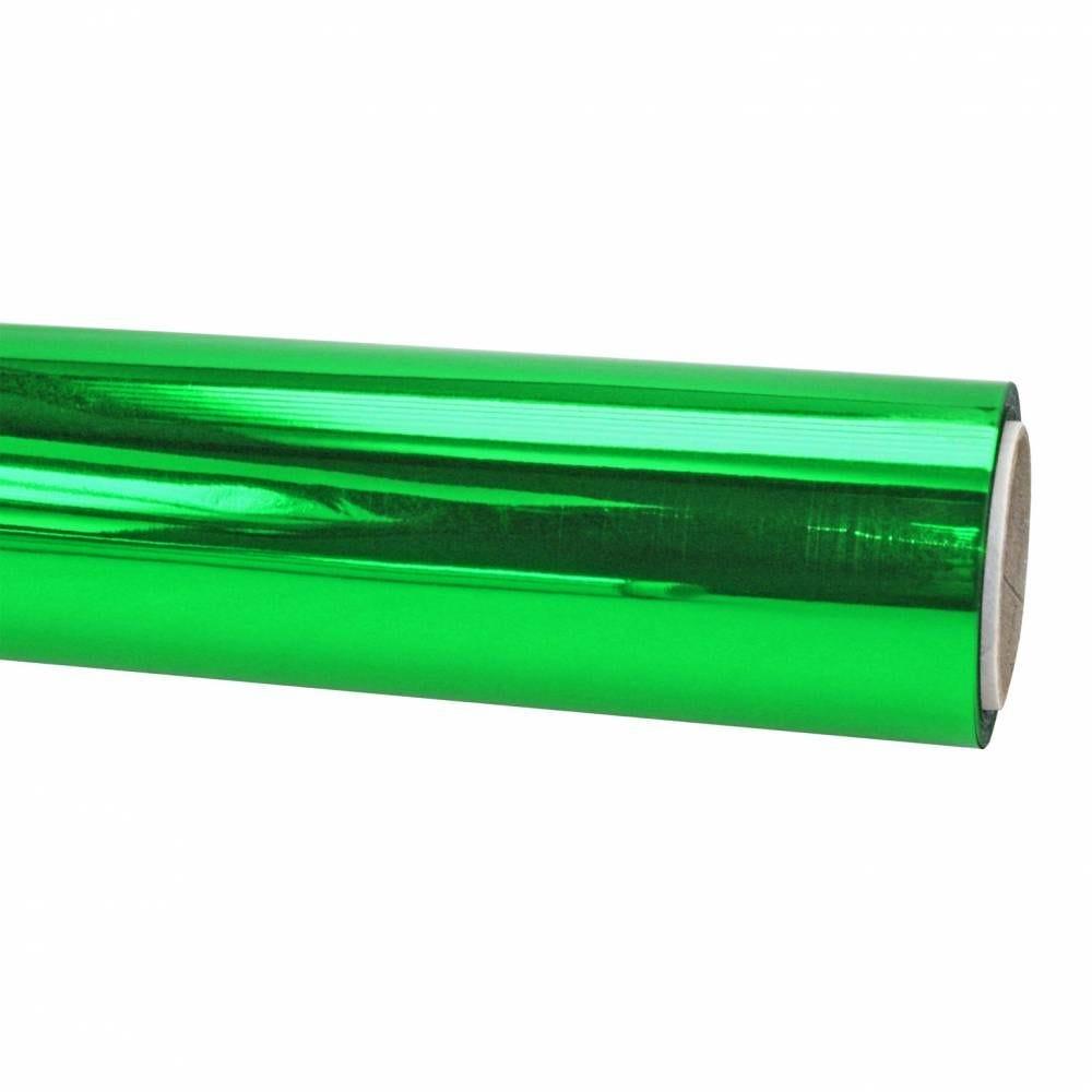 Papier cadeau 20 m x 70 cm brillant vert (photo)