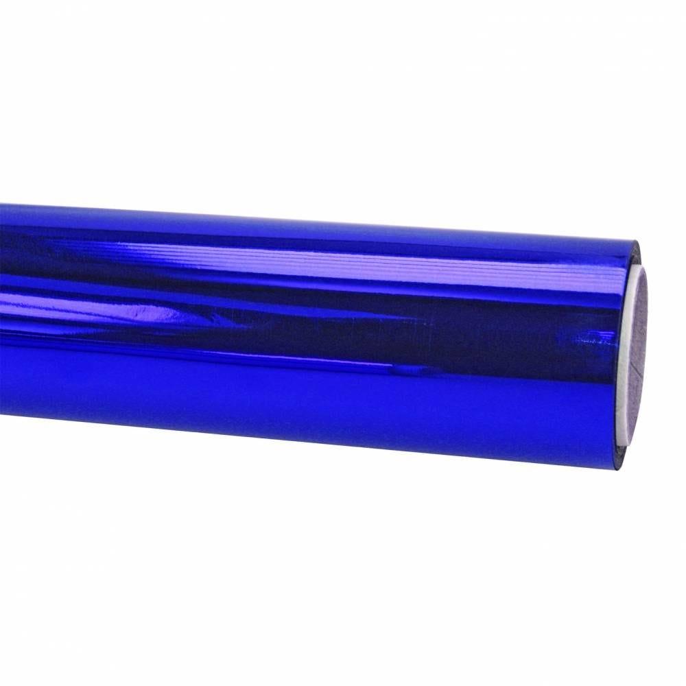 Papier cadeau 20 m x 70 cm brillant bleu royal (photo)