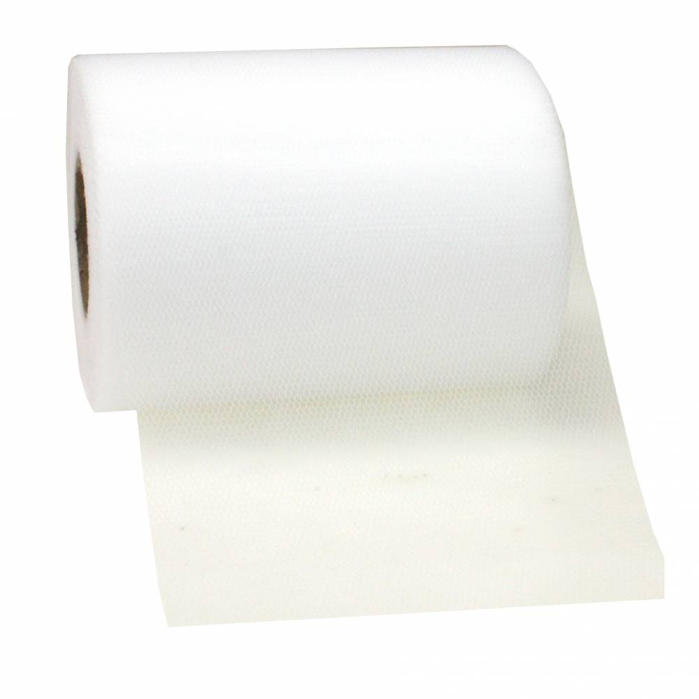 Ruban tulle 112 mm x 50 m blanc
