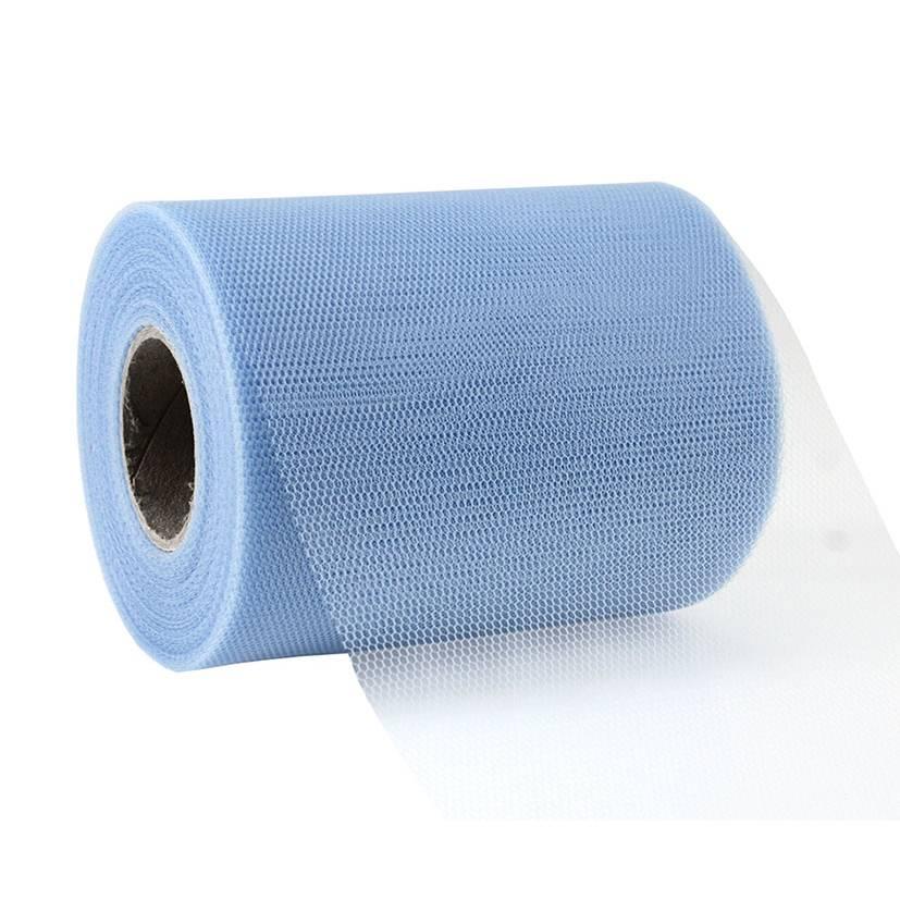 Ruban tulle 112 mm x 50 m bleu clair