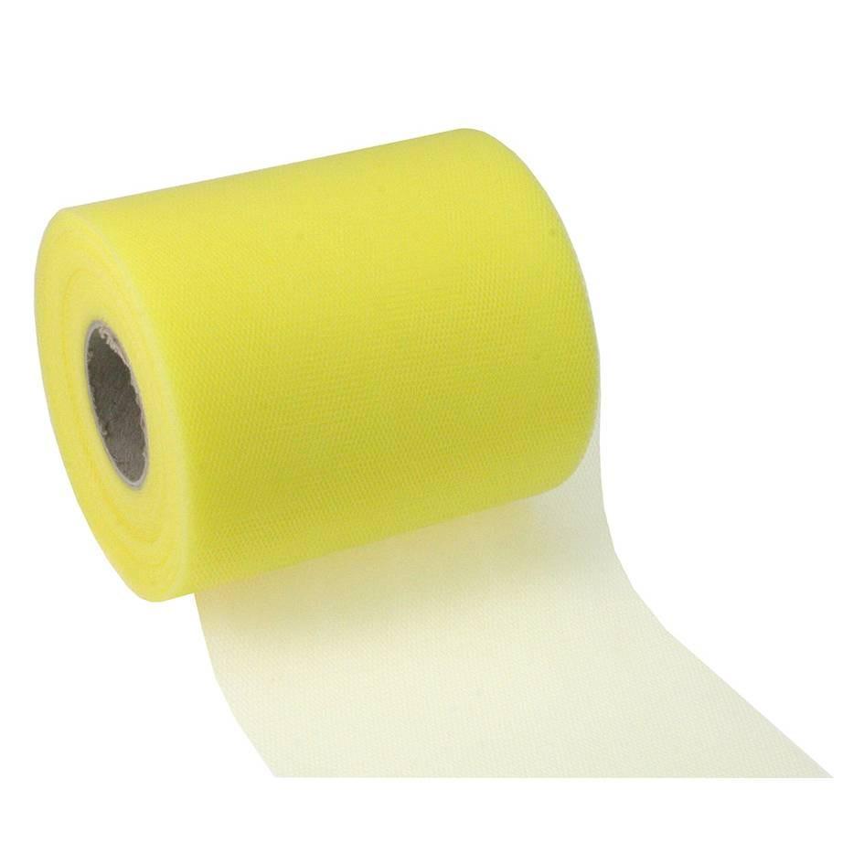 Ruban tulle 112 mm x 50 m jaune