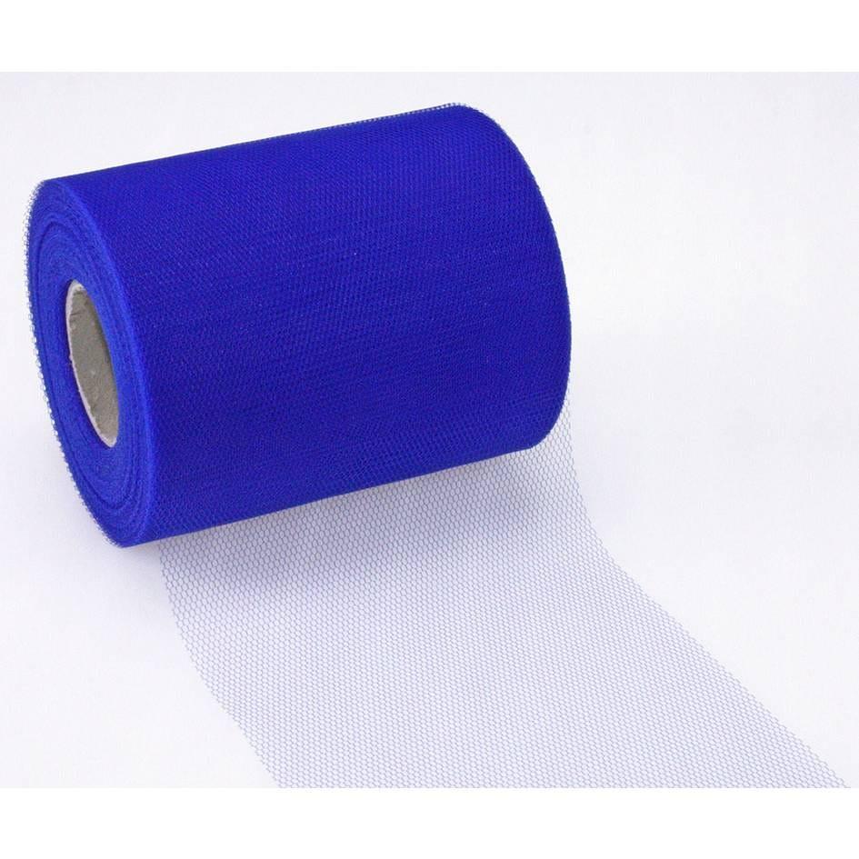 Ruban tulle 112 mm x 50 m bleu royal