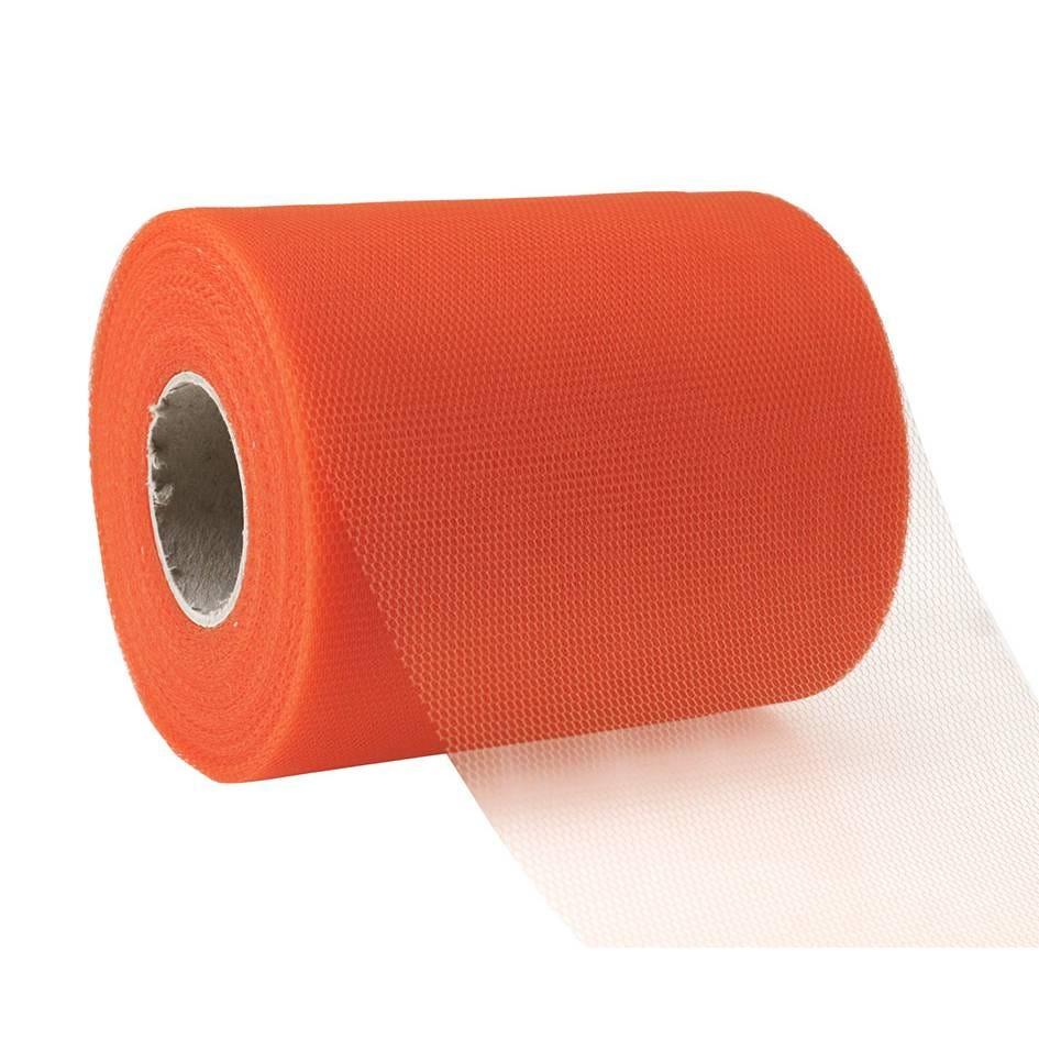 Ruban tulle 112 mm x 50 m orange