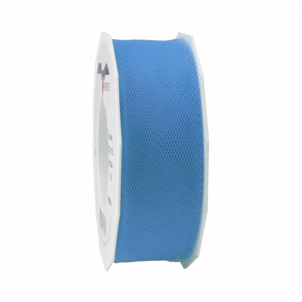 Ruban tulle 40 mm x 50 m bleu clair
