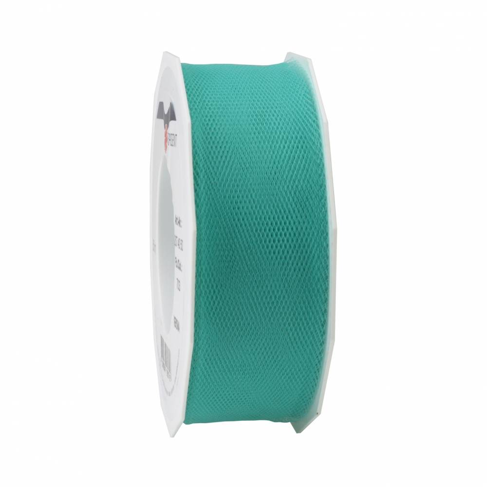 Ruban tulle 40 mm x 50 m turquoise