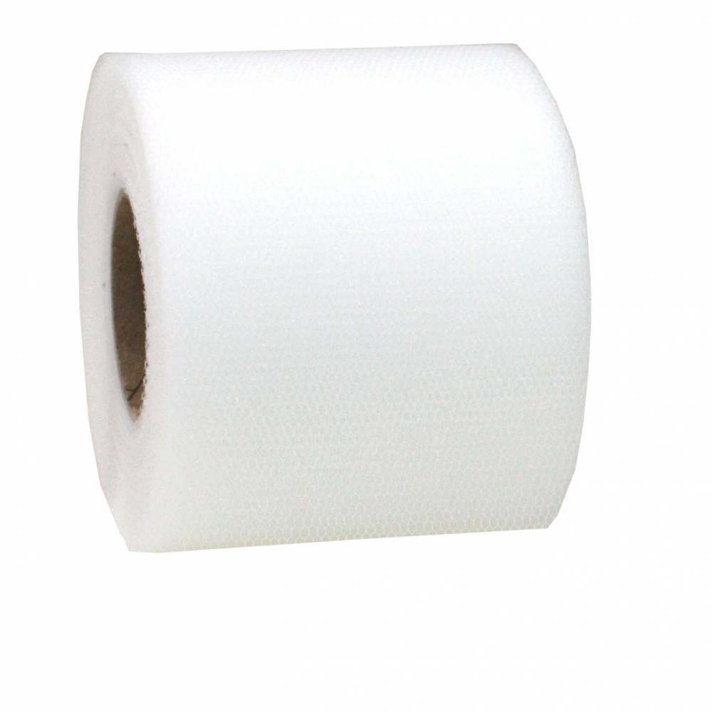 Ruban tulle 72 mm x 50 m blanc