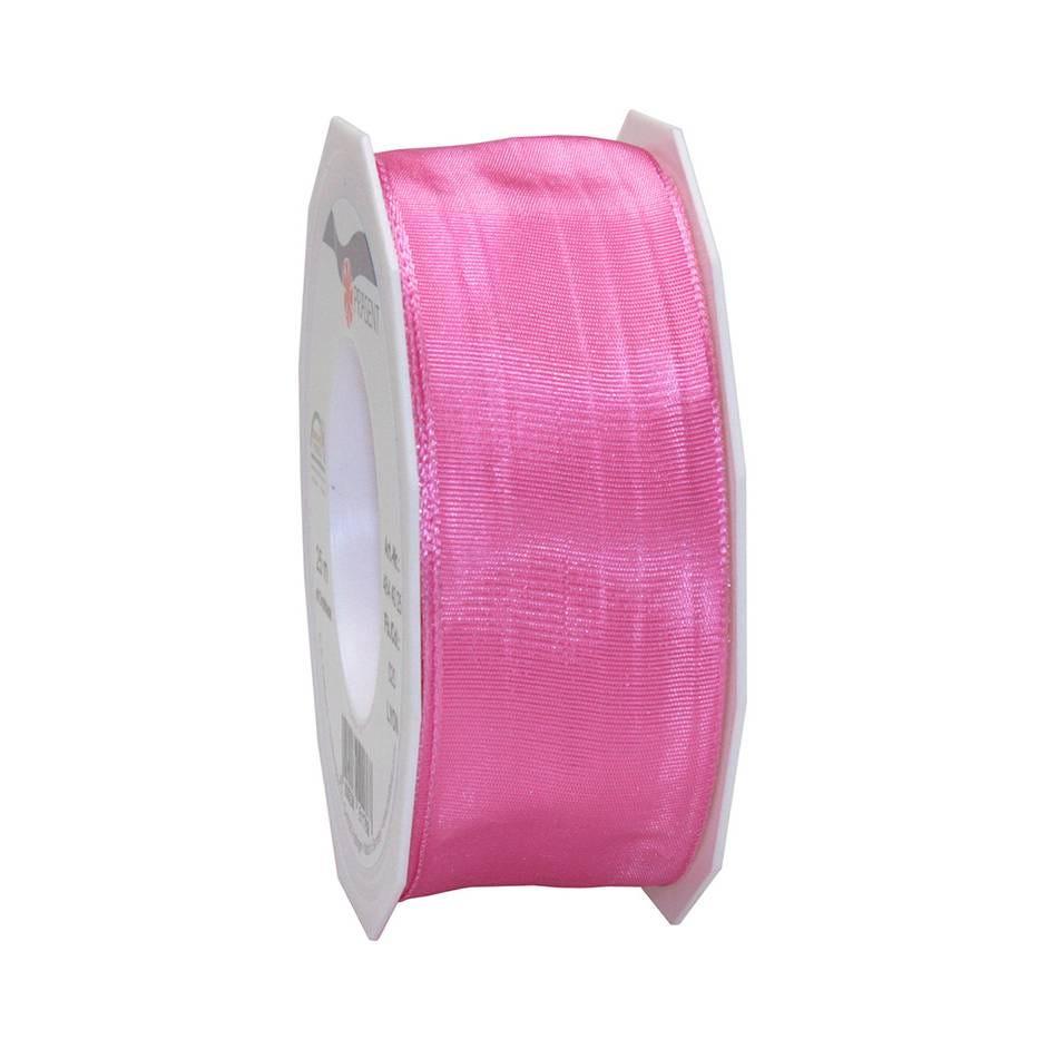 Ruban laitonné brillant 40 mm x 25 m pink