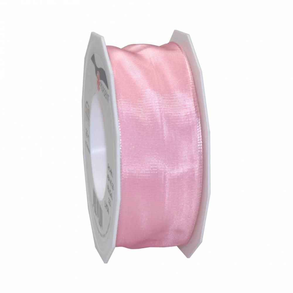 Ruban laitonné brillant 40 mm x 25 m rose clair