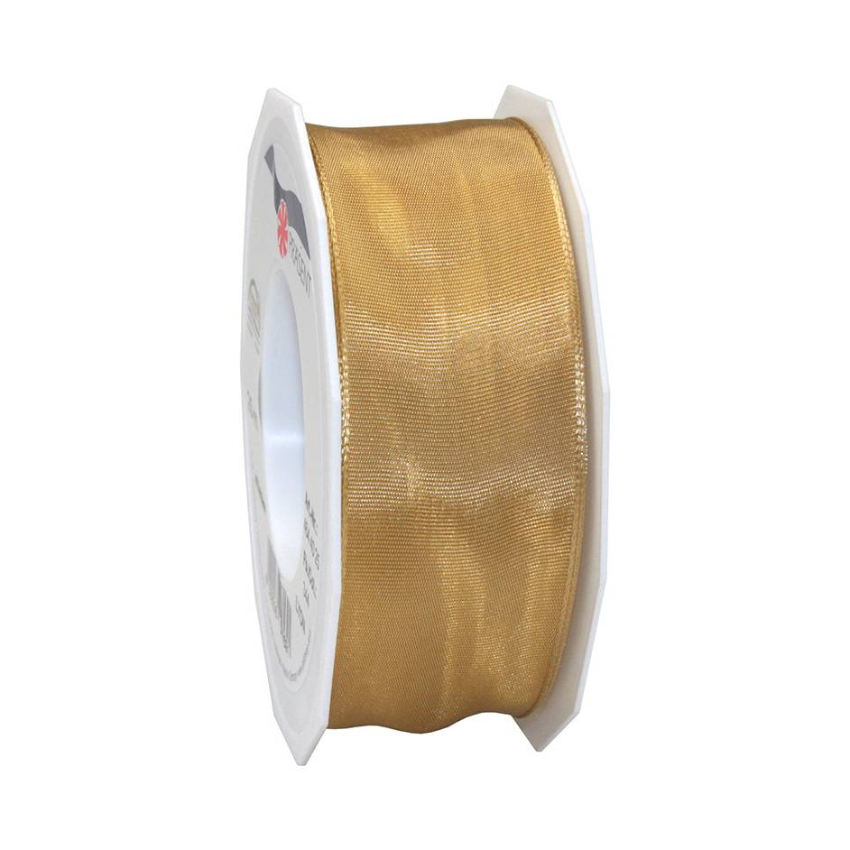 Ruban laitonné brillant 40 mm x 25 m ocre