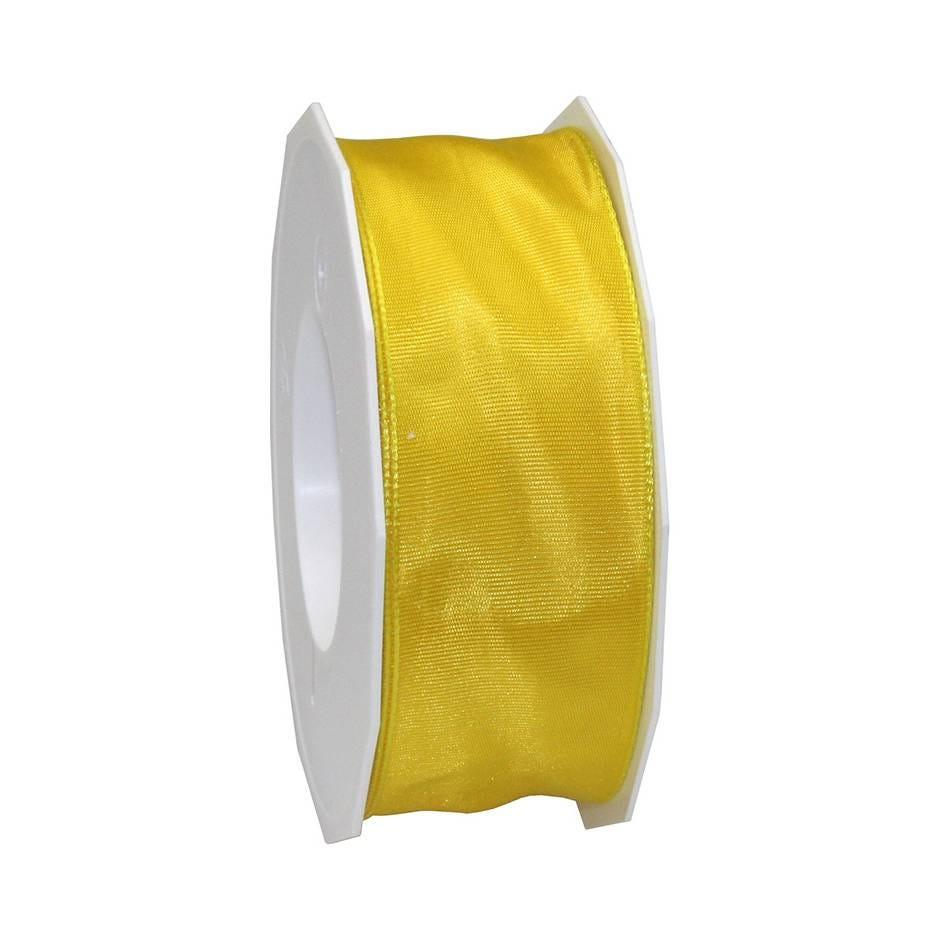 Ruban laitonné brillant 40 mm x 25 m jaune