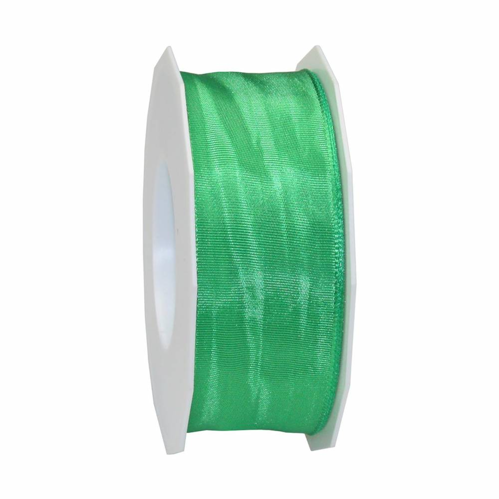 Ruban laitonné brillant 40 mm x 25 m vert
