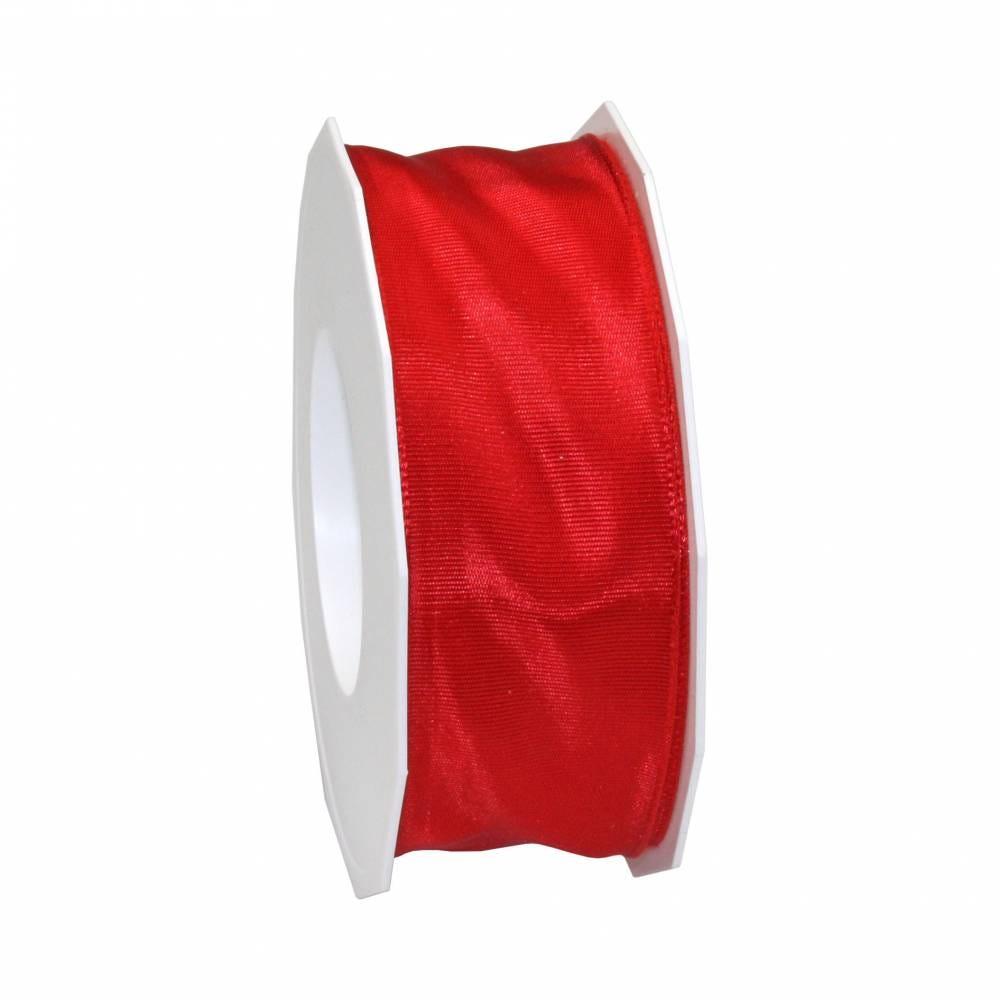 Ruban laitonné brillant 40 mm x 25 m rouge