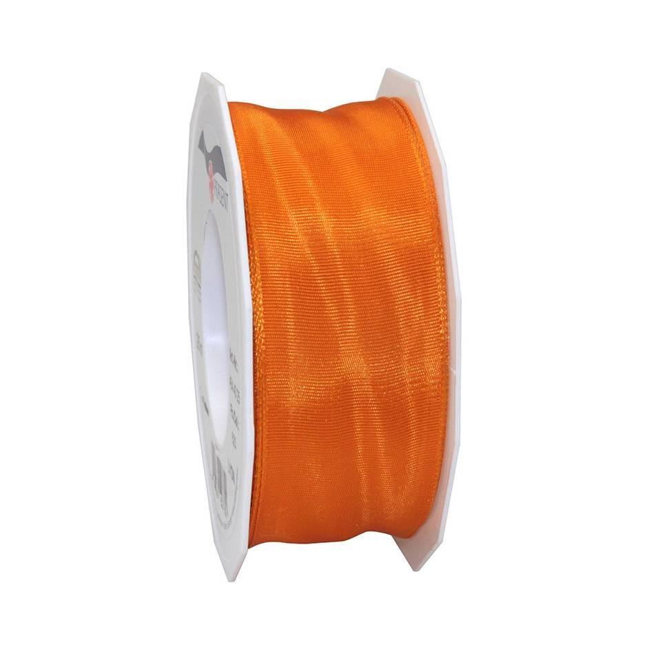 Ruban laitonné brillant 40 mm x 25 m orange