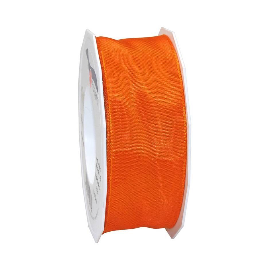 Ruban laitonné brillant 40 mm x 25 m mandarine