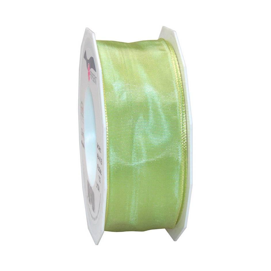Ruban laitonné brillant 40 mm x 25 m jade
