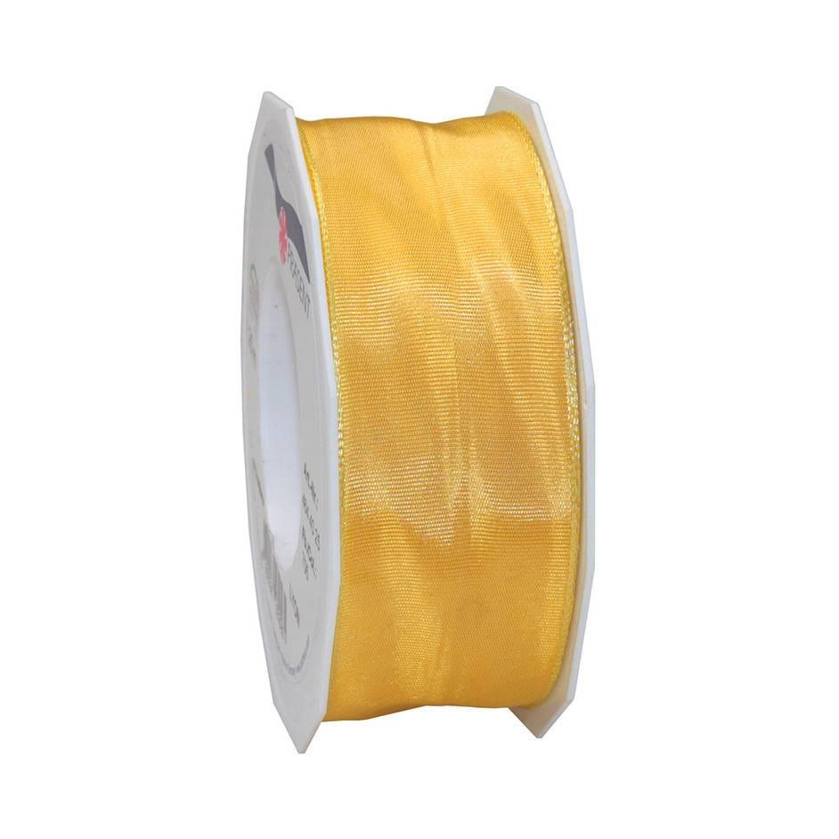 Ruban laitonné brillant 40 mm x 25 m vanille