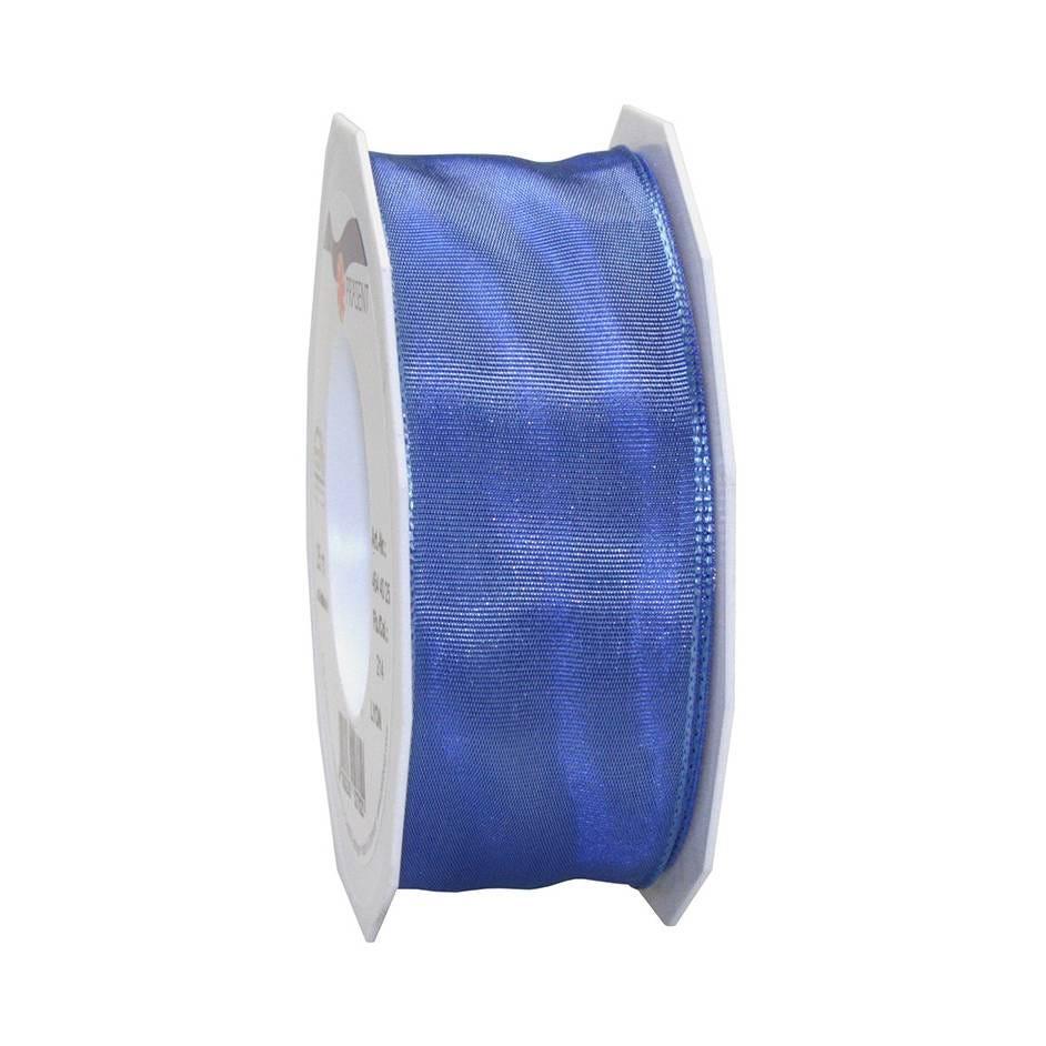 Ruban laitonné brillant 40 mm x 25 m indigo