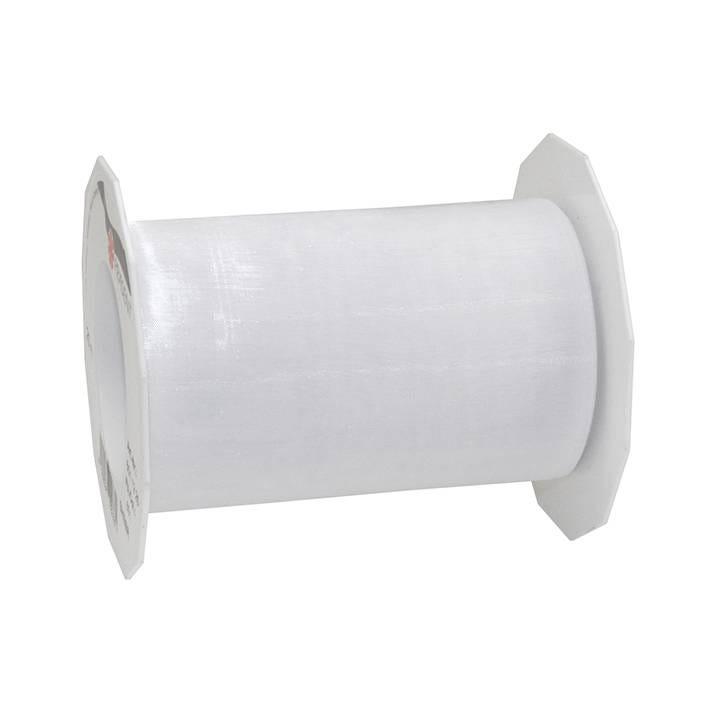 Ruban effet gaze 112 mm x 25 m blanc