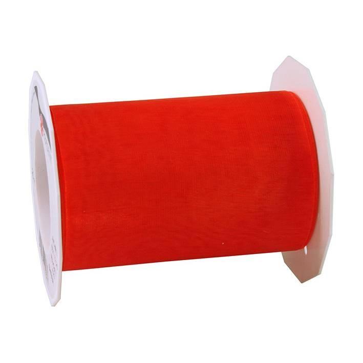 Ruban effet gaze 112 mm x 25 m rouge
