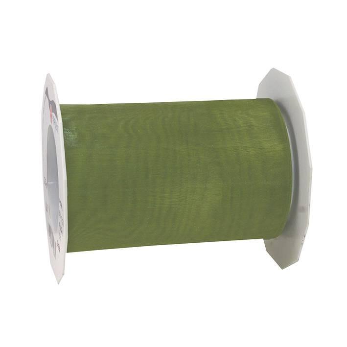 Ruban effet gaze 112 mm x 25 m olive