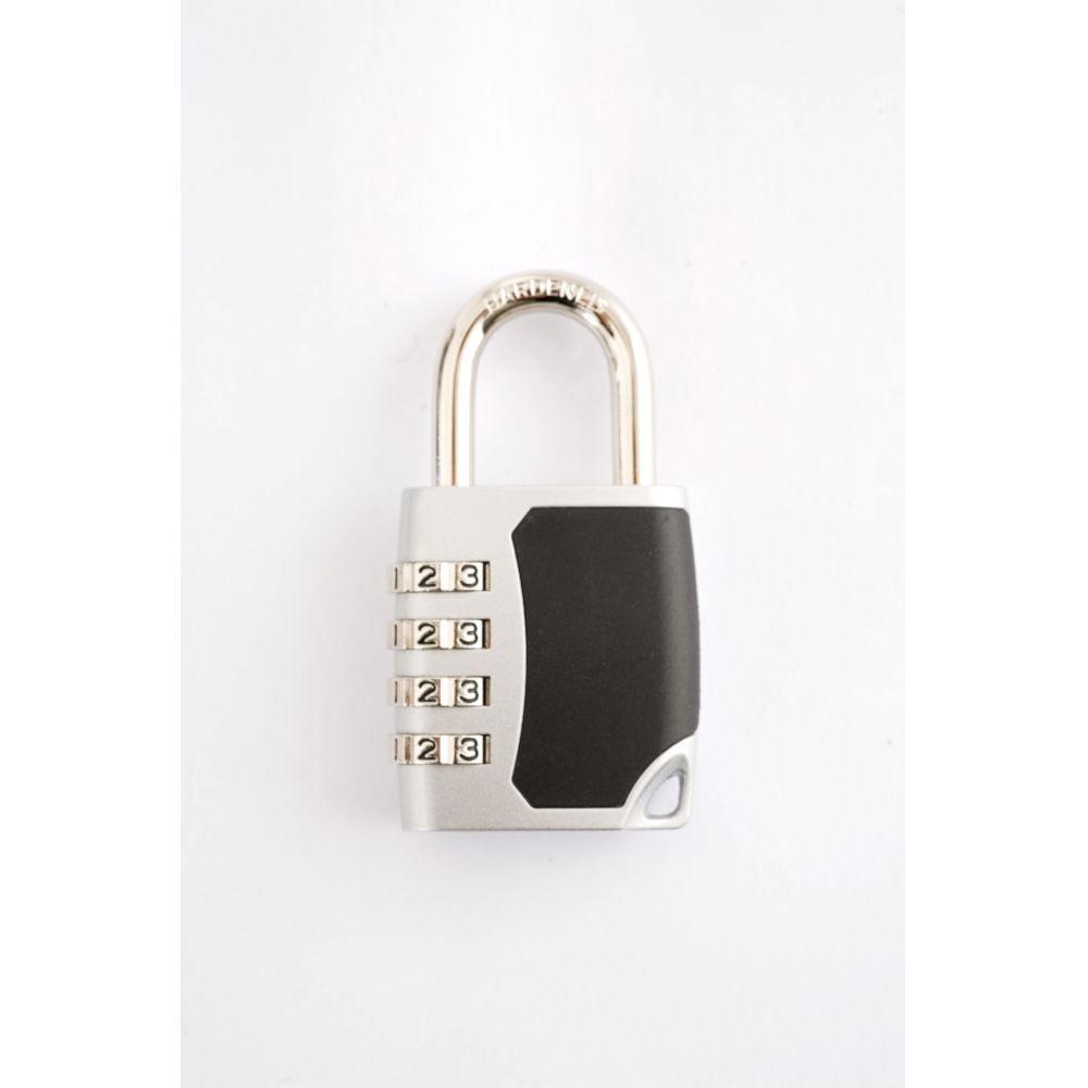 Cadenas à code pour vestiaires - 4 molettes - Anse diam 6mm (photo)