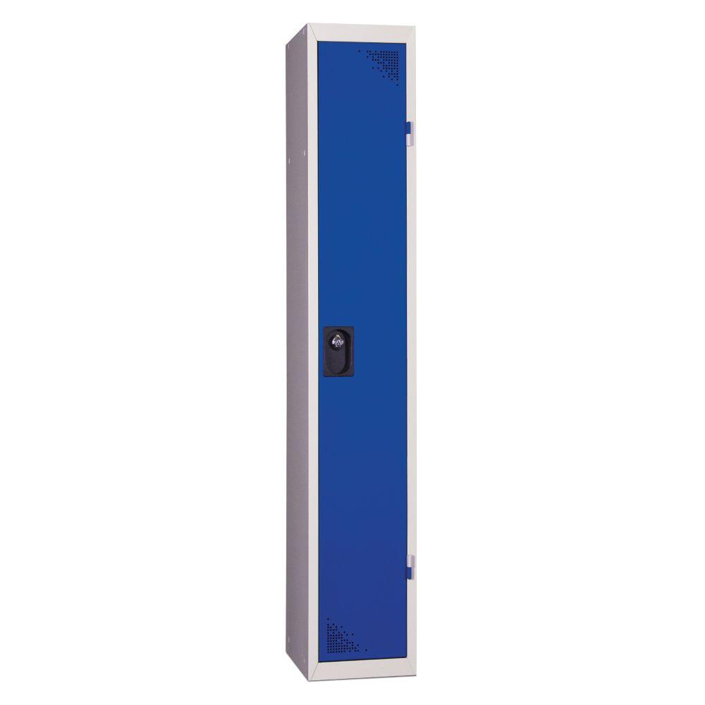 Vestiaire industrie propre - En kit - Bleu - 1 colonne - Largeur 30cm
