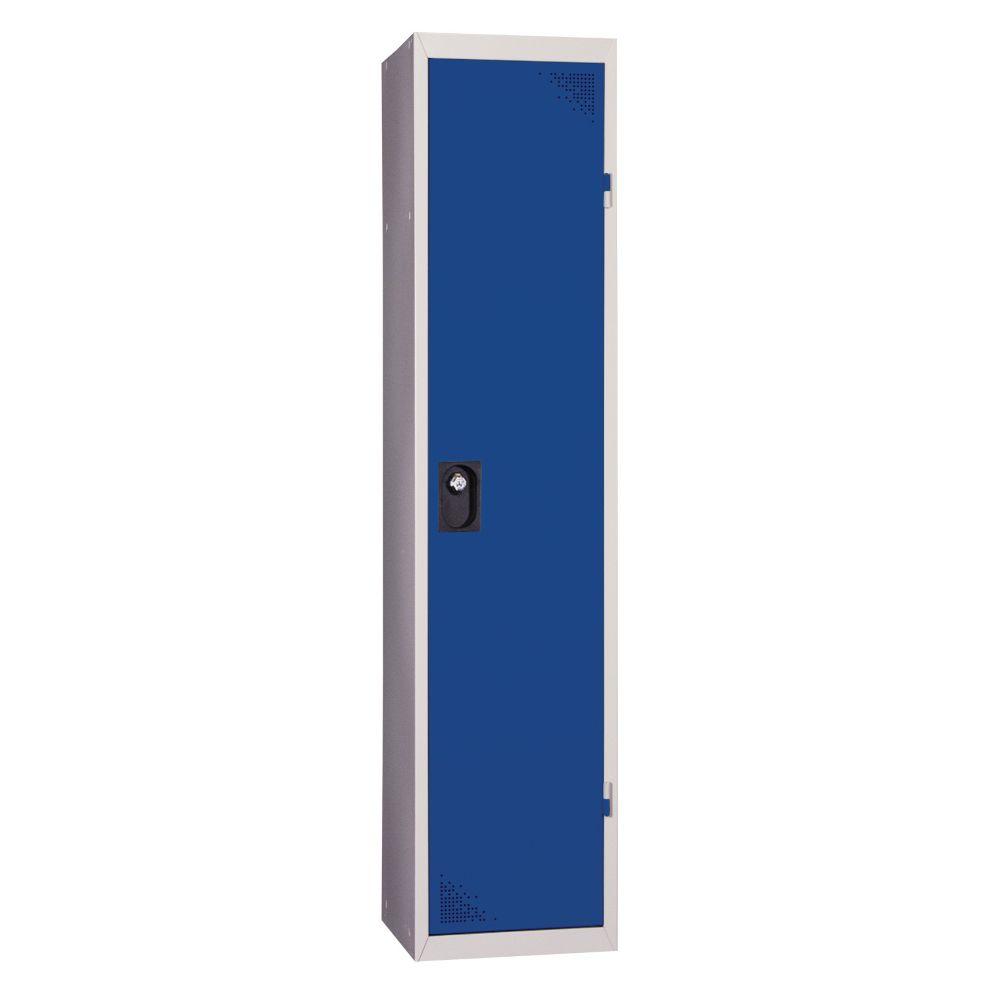 Vestiaire industrie salissante - En kit - Bleu - 1 colonne - Largeur 40cm