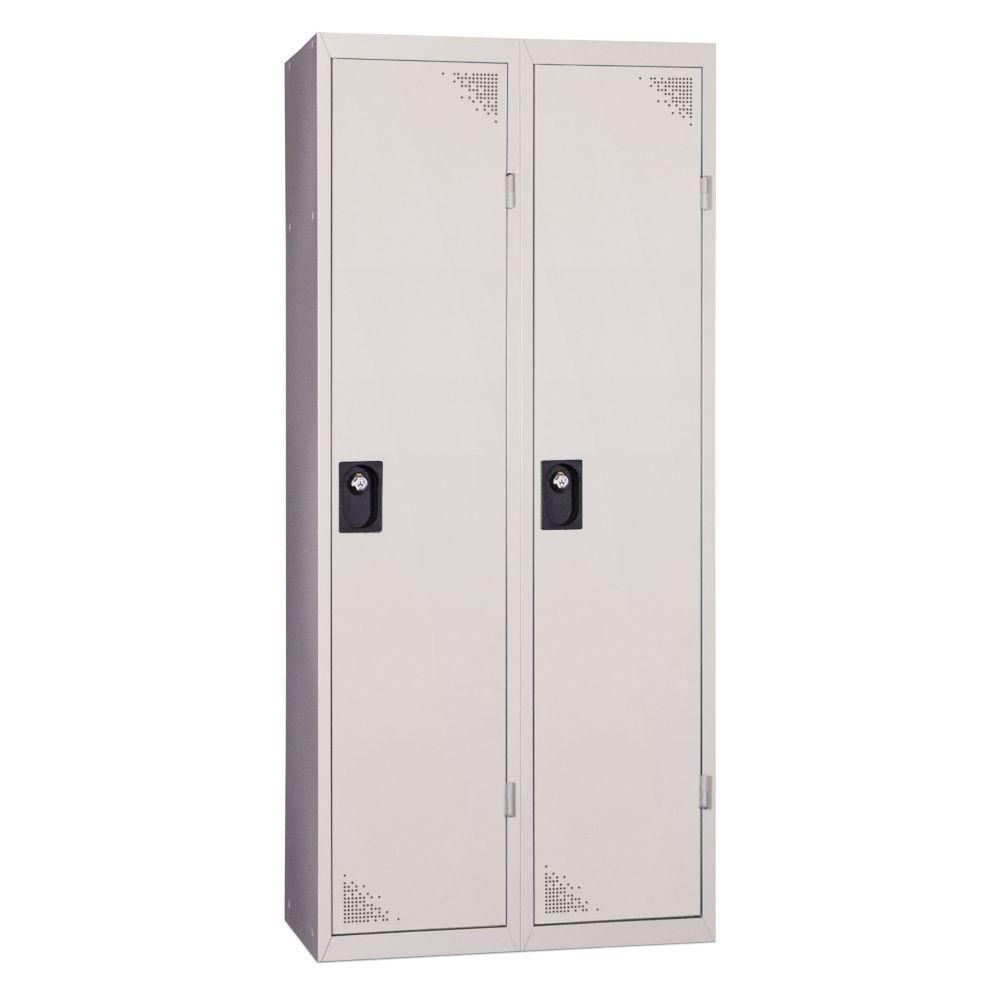 Vestiaire industrie salissante - En kit - Gris - 2 colonnes - Largeur 80cm