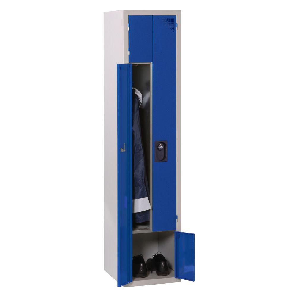 Vestiaire 2-en-1 - Monobloc - Bleu - 1 colonne